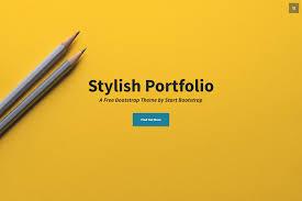Stylish Portfolio One Page Bootstrap Portfolio Theme
