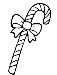 candy cane outline canes coloring pages printable