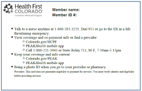 First The Will Providers - Card Colorado Accept Member Identification Health