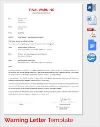 How To Write A Warning Letter To An Employee Free 18 Warning Letters In Google Docs Ms Word Pages Pdf