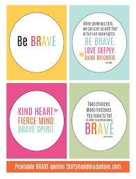 Brave Quotes Interesting Printable BRAVE Quotes