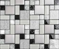 white glass bathroom tiles. Glass Mosaic Kitchen Wall Tiles SSMT115 Black And White Tile Metal Stainless Steel Bathroom -