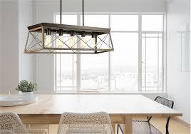luminaire suspendu rustique traditionnel briarwood progress p400048 020 au dessus d une table
