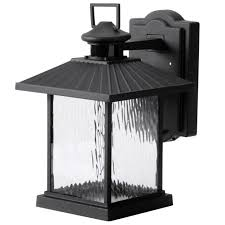 wall mount lantern lamp adjule light energy outdoor motion sensor black