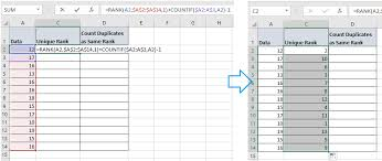 Rank Functions Excel How To Rank Duplicate Without Skipping Numbers In Excel