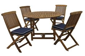 wiscon round fold and 5 piece dining set