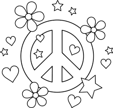 Small Picture Peace Signs Coloring Pages fablesfromthefriendscom