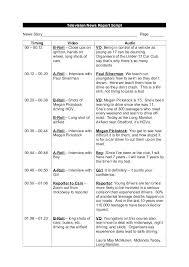 Talk Show Format Template News Report Script Example