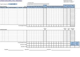 Timecard In Excel Operations Employee Timecard My Excel Templates