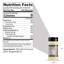 Smart Monk 100 Monkfruit Extract Non Glycemic Zero