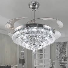 led crystal chandelier fan lights invisible fan crystal lights with regard to crystal chandelier ceiling