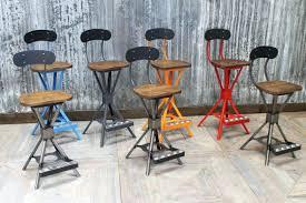 Industrial style bar stools Height Adjustable Industrial Style Kitchen Bar Stools Skillful Design Firsthand Industrial Style Swivel Bar Stools Amazing Stool Wood Amp Iron