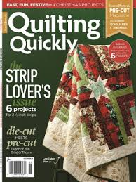Best Quilting Magazines, New Quilt Books You'll Love - The ... & Quick View · Quilting Quickly November December 2017 Print Edition ... Adamdwight.com
