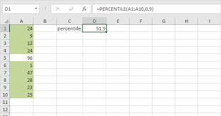 Excel Percentile Chart Percentiles And Quartiles In Excel Easy Excel Tutorial