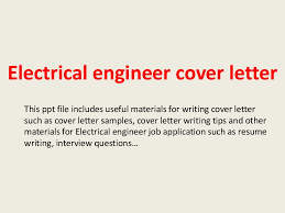 Resume Sample Cover Letter Electrical Engineer Best Inspiration