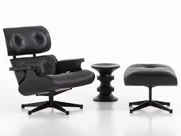 buy the vitra eames lounge chair  ottoman  all black at nestcouk