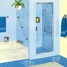 blue bathroom designs. Kids Bathroom Design With Blue Floor Tiles And Bright Wall Also Shower Porcelain Bathtub Designs