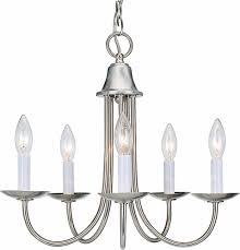rhodes 5 light brushed nickel chandelier