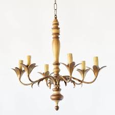 vintage italian chandelier with gilded iron arms