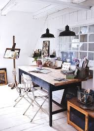 chic office design. Rustic Office Decor Chic Space Design