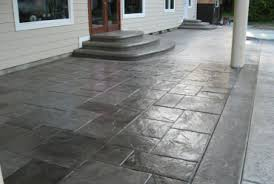 stained concrete patio gray. Amazing Stamped Concrete Patio Design Ideas With Stained Gray