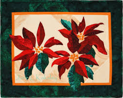 Quilt Pattern Poinsettia Applique Christmas Wall Hanging & 🔎zoom Adamdwight.com