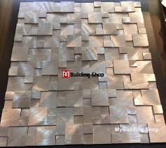 Metal Wall Tiles For Kitchen Brushed Silver Metal Mosaic Kitchen Wall Tile Backsplash Smmt114