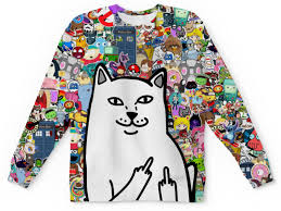 <b>Толстовка с полной</b> запечаткой <b>printio</b> hello kitty