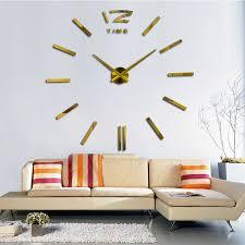 modern design 3d diy large wall clock