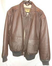 details about men s a2 air force size xl brown 100 leather airborne flight er jacket
