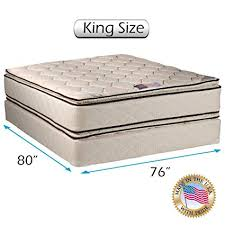king size mattress and box spring. Wonderful Spring Coil Comfort Pillowtop King Size Mattress And Box Spring Set For And Z