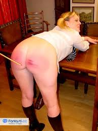 Nude women in chaps spanked