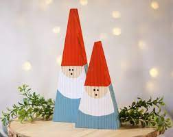 mini wood gnome set wooden gnome