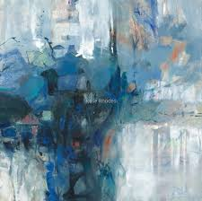 Into the Winters Night by Roselyn (Rose) Rhodes   Abstract, Prints, Painting