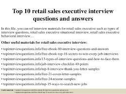 Sales Executive Job Description Top 10 Retail Sales Executive Interview Questions And Answers