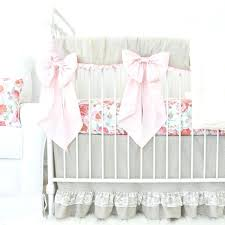 vintage baby bedding blush fl linen lace ruffle crib race car