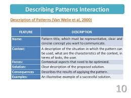 Pattern Of Interaction Impressive Patterns Of Interaction Description Including Aspects Of Constraints