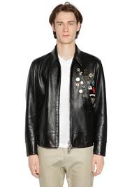 dsquared2 leather jacket w pins