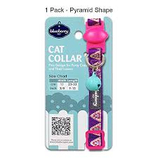 Blueberry Pet Collar Size Chart Blueberry Pet Pack Of 1 Cat Collar Pyramid Shape Designer