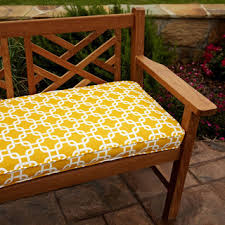 Penelope Yellow 60 inch Outdoor Bench Cushion