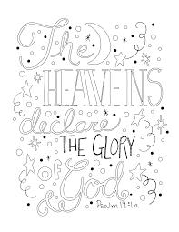 The Heavens Declare The Glory Of