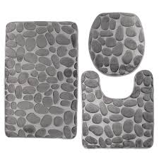 gorgeous amusing sears bath rugs with 3 piece bathroom rug set pebbles design