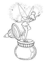 Kleurplaat Coloring Page Disney Peter Pan Tinkerbell