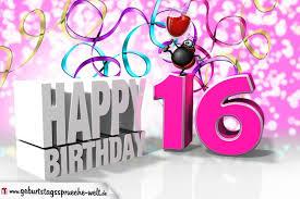 Geburtstagssprüche 16 Triciahallekathy Site