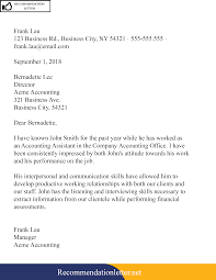Sample Template Of Recommendation Reference Letter For Teacher
