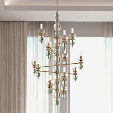 art deco inspired italian murano glass chandelier juliettes interiors