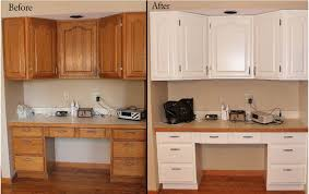 Exellent Painting Oak Kitchen Cabinets White Pretty Painted For Design