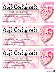 mary kay valentine s gift certificates