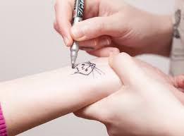 temporary tattoo ink pens