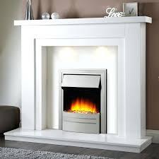 cau corner electric fireplace white a console stone